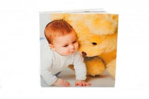 photobook with printed canvas cover