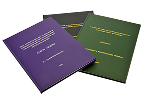 Hardback thesis binding london